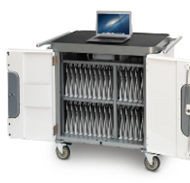 Computer cart of Macbooks