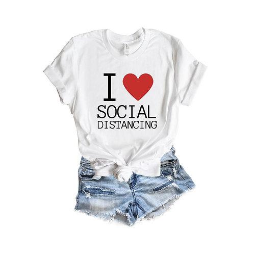 PLAYERA I LOVE SOCIAL DISTANCING