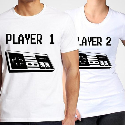 PLAYERAS PLAYER 1 AND 2