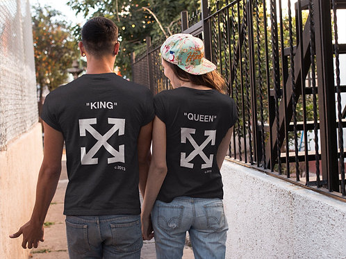 PLAYERAS KING AND QUEEN