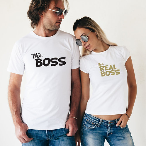 PLAYERAS THE BOSS AND REAL BOSS