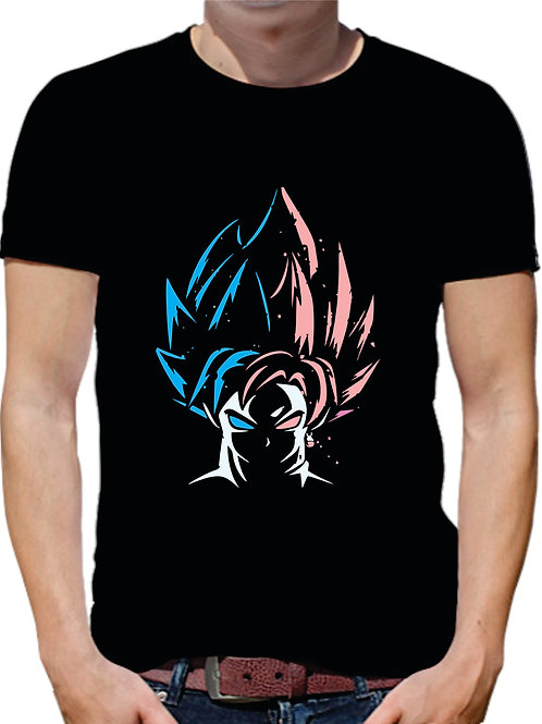 PLAYERA DRAGON BALL GOKU BLUE ROSE