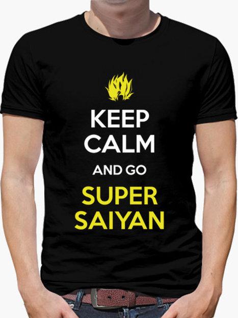 PLAYERA DRAGON BALL KEEP CALM AND GO SUPER SAIYAN