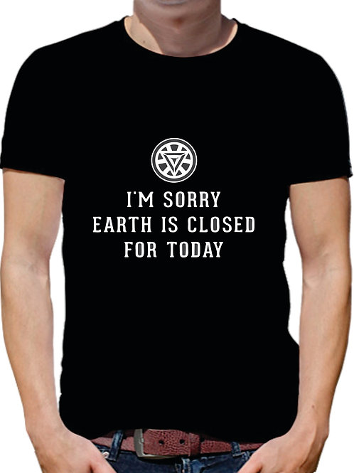 PLAYERA AVENGERS IRON MAN SORRY EARTH