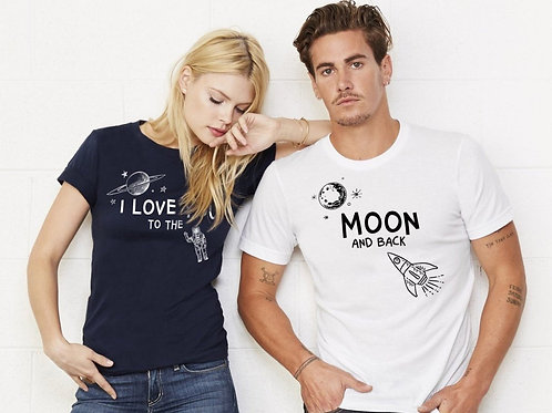PLAYERAS TO THE MOON AND BACK
