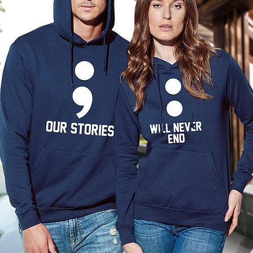 PLAYERAS OUR STORIES WILL NEVER END