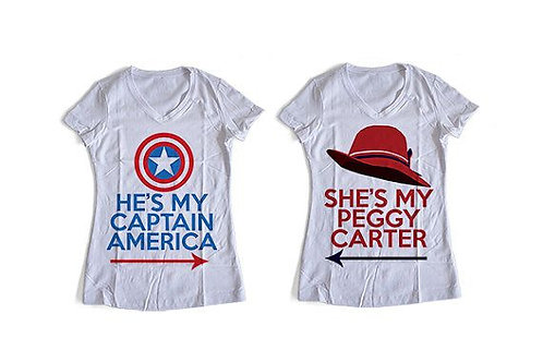 PLAYERAS CAPITAN AMERICA PEGGY CARTER