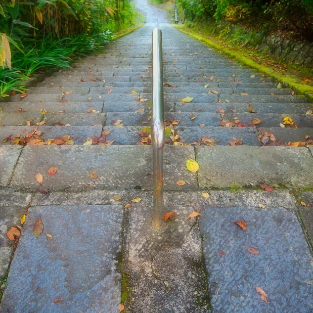 タイトル 秋葉神社の石段