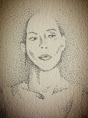 Ink dot drawing by Travis King
