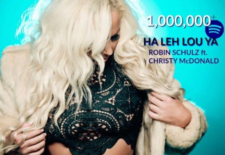 Christy McDonald ft. on Robin Schulz HaLehLouYa 1 Million Spins +