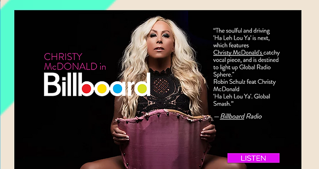 Christy McDonald in Billboard @chrisymcdonald.com