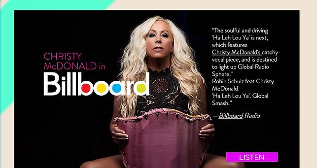 Christy McDonald in Billboard @chrisymcdonald.com