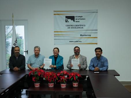 Convenio de colaboración entre Pronatura Noreste y el Colegio de la Frontera Norte.