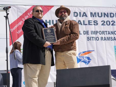 Premian a nuestro Director General por su trayectoria en la conservación de los humedales