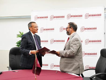 Convenio de colaboración entre Pronatura Noreste y la Facultad Libre de Derecho de Monterrey