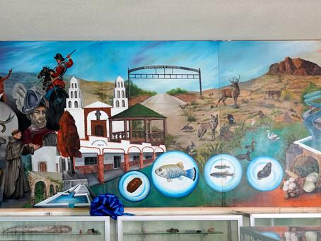 """Inauguración del mural """"Orgullo del Pandeño"""" en Julimes, Chihuahua"""
