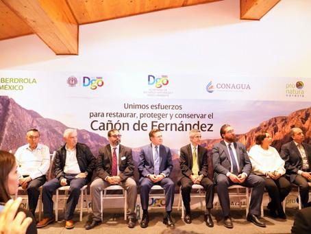 Convenio de colaboración entre Pronatura Noreste, Fundación Iberdrola México y Gobierno del Estado d