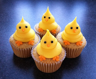 Easter Chick Cupcakes by FlourGirl Patissier