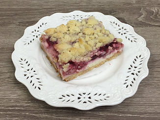 Cream Cheese Cherry Pie Crumb Bars by FlourGirl Patissier