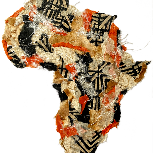 """Africa #5  (16"""" x 20"""" Matted)"""