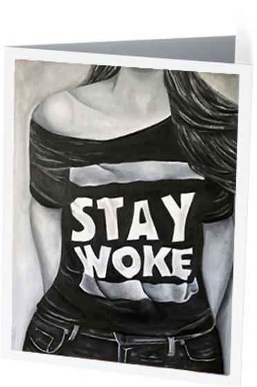 'Stay Woke' Notecard Set