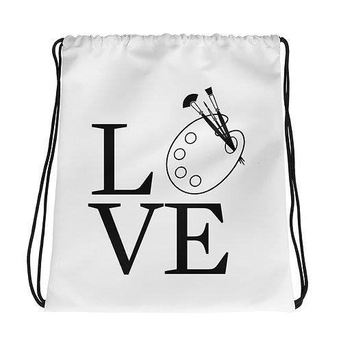 Art Love Drawstring Bag