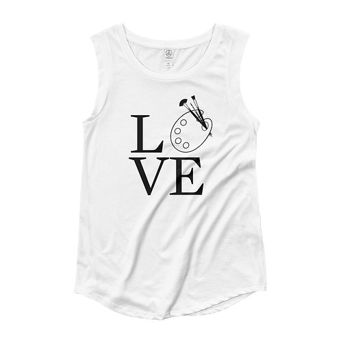 Love Women's Causal Cap Sleeve Tee