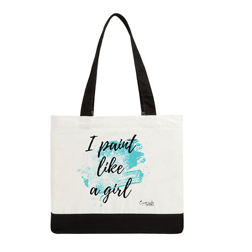 I Paint Like A Girl Deluxe Tote