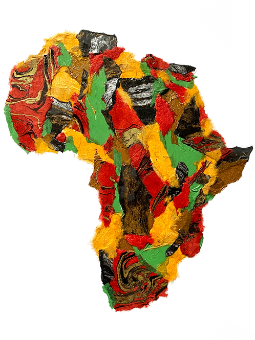 """Africa #6  (16"""" x 20"""" Matted)"""
