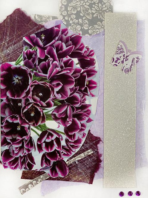"Purple Bouquet (8""x 10"")"