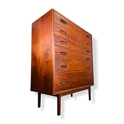 Mid-Century Modern Jack Cartwright for Founder Highboy Walnut Dresser