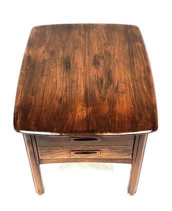 Mid Century Modern Walnut End Side Table By Hammary