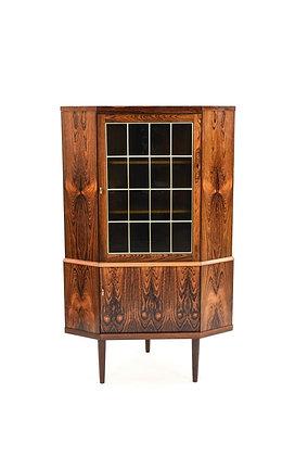 Mid-Century Danish Modern Rosewood Corner Cabinet