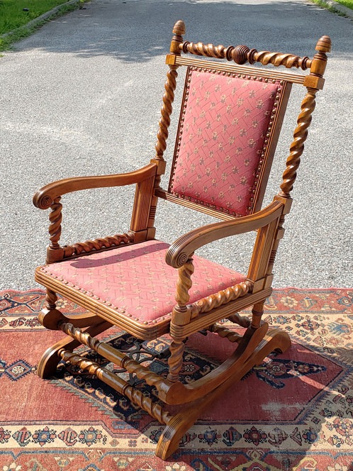 - Antique Rocking Chair With Spindle Frame