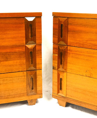 Pair Of Mid Century Bachelor Chest By American J.R. Van Sciver Co.