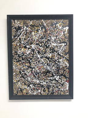 Abstract Splatter Painting on Canvas Board