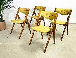 1960s Norquist Coronet Wonderfold Chairs Set of 4