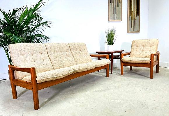 Set 2 Danish Modern Teak Sofa & Chair By Domino Mobler