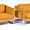 Thumbnail: Pair of Rare Variant Milo Baughman Lounge Chairs With Chrome Frame