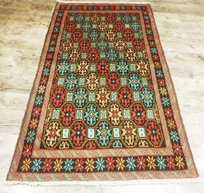 Vintage Oriental Persian Rug 3.4ft x 6.2ft