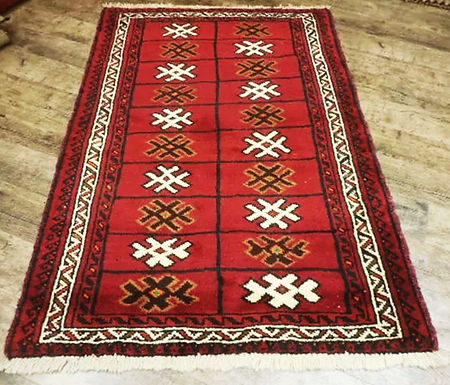 Antique Wool Persian Rug 5.8ft x 3.9ft