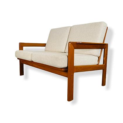 Mid-Century Danish Modern Teak Loveseat Sofa