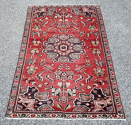 1930's Exquisite Hand Knotted Wool Persian Rug