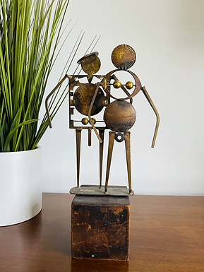 MCM Sculpture Of A Man & Women by William Bowie