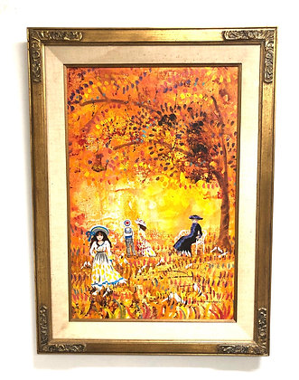 Framed Canvas Painting Signed by Artist