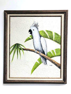 Acrylic on Canvas Cockatoo