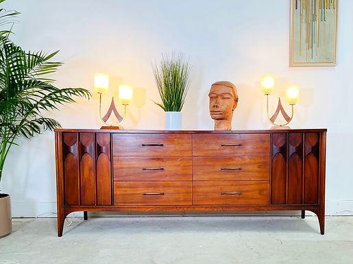Mid-Century Modern Walnut  Credenza / Dresser By Kent Coffey