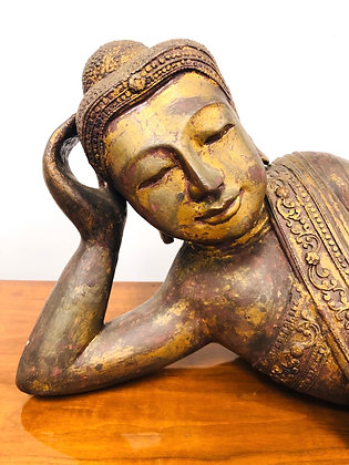 Plaster Cast Reclining Buddha