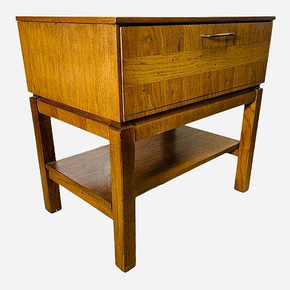 Mid-Century Modern One Drawer Nightstand by Bassett Furniture