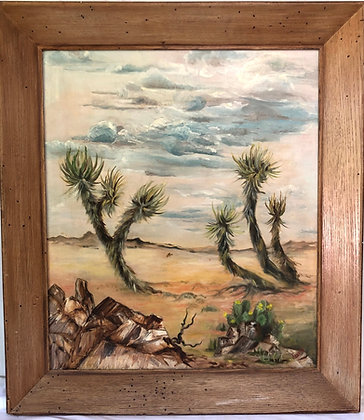 Newmann - Yuccas Framed Oil On Canvas